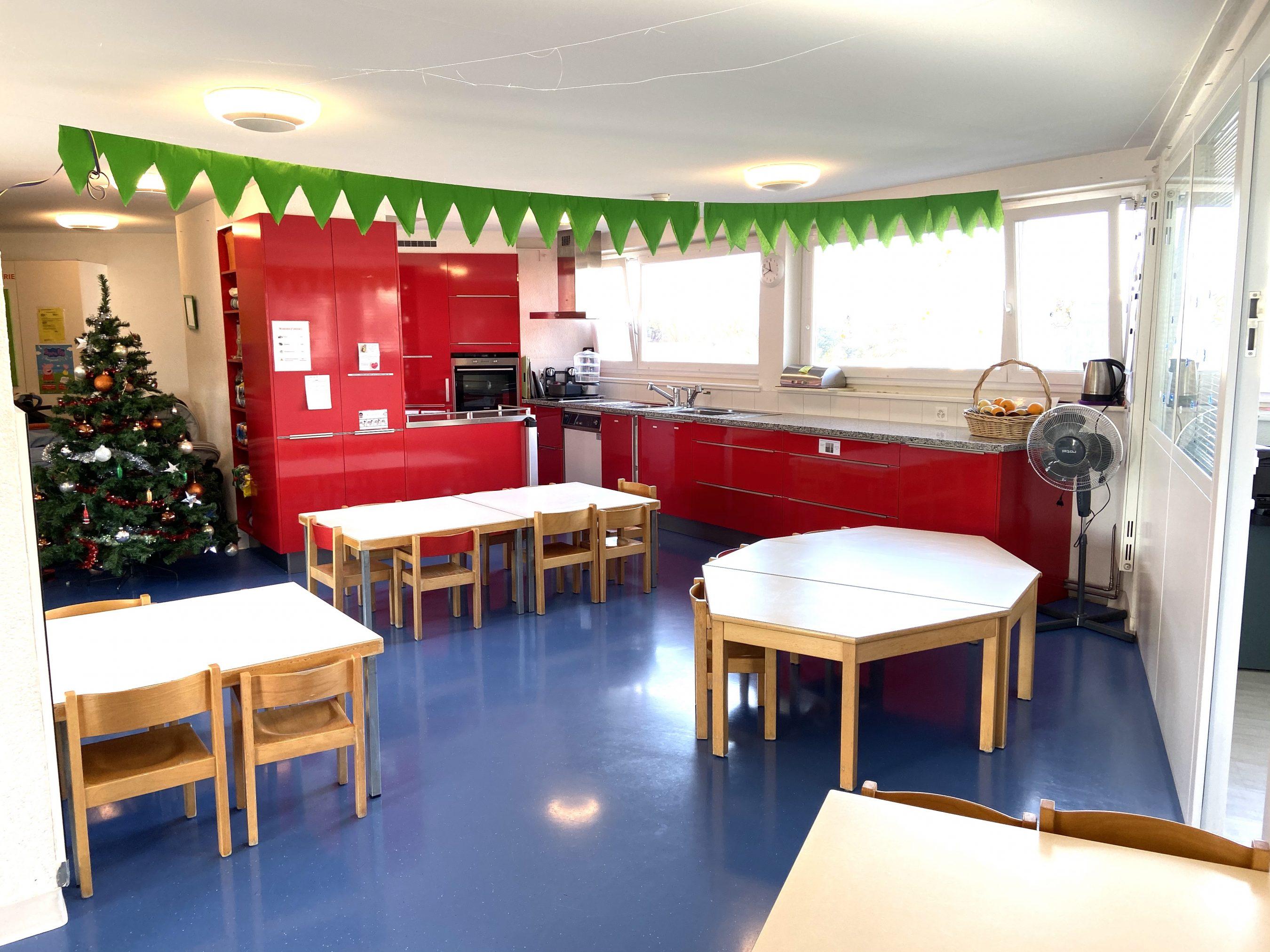 Cuisine et salle à manger de L'Attique